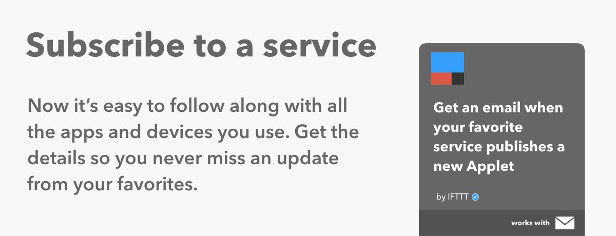 Learn how to subscribe to a service