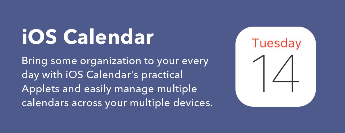 iOS Calendar Applets