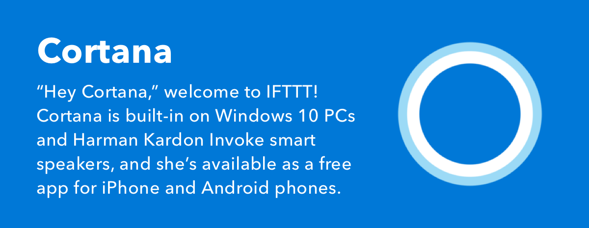 Microsoft's Cortana on IFTTT