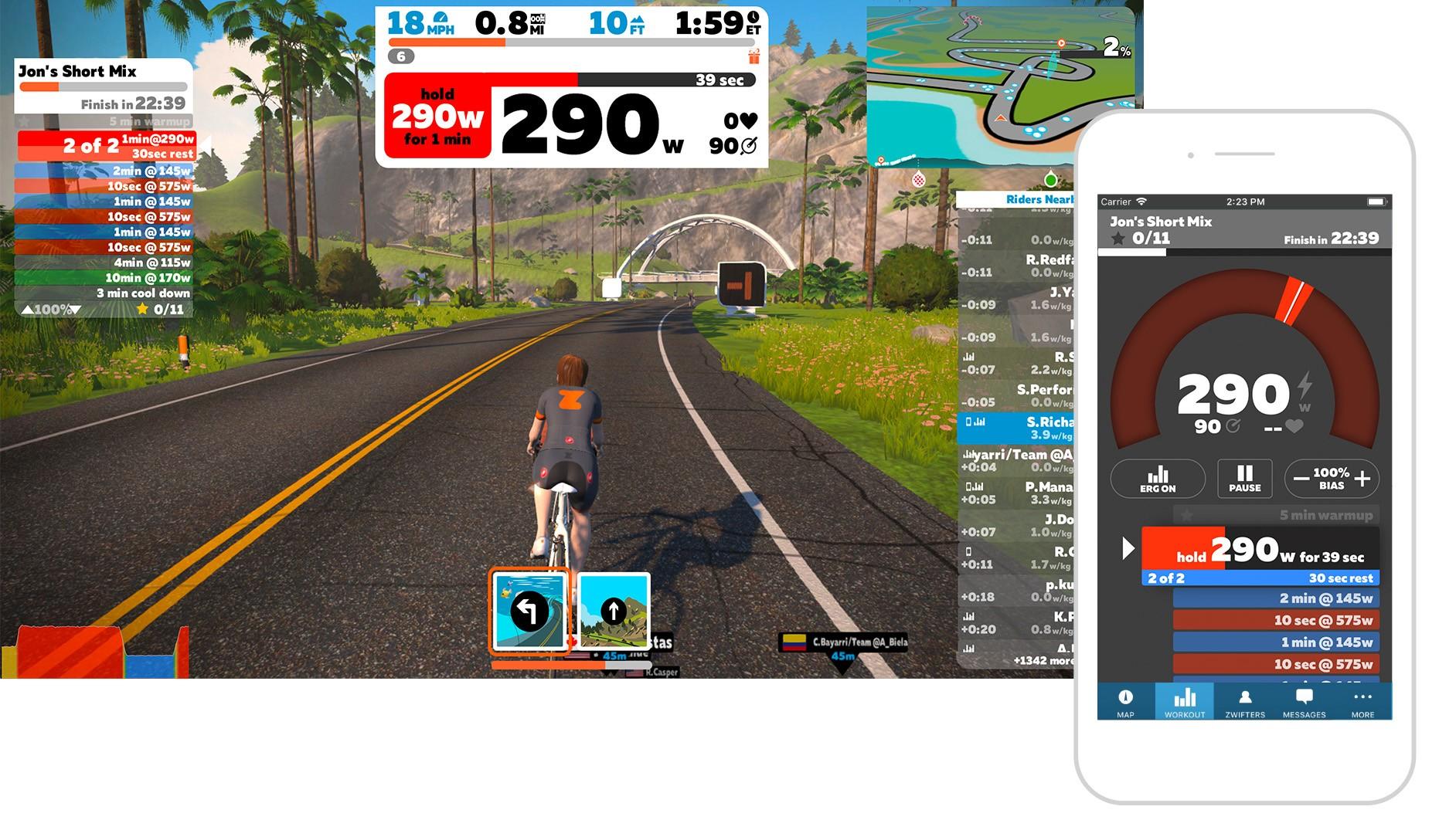 Zwift Companion app