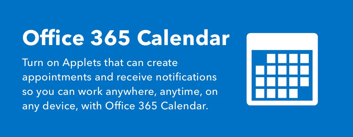 Office 365 Calendar Applets