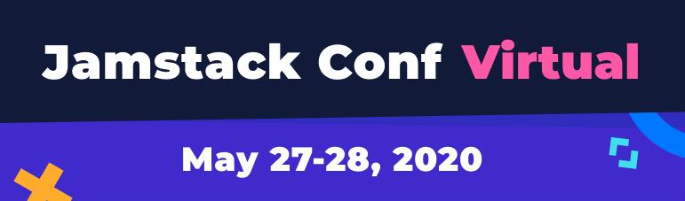 Jamstack Conf virtual banner