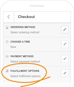 Online order fulfillment options
